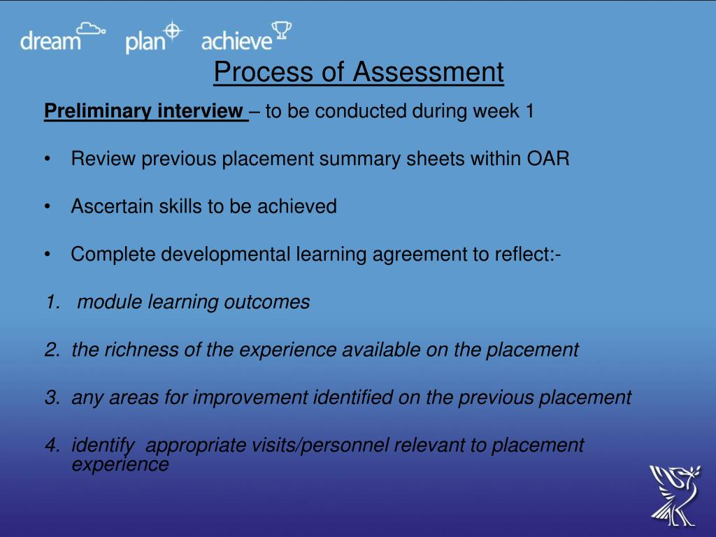 Process of Assessment