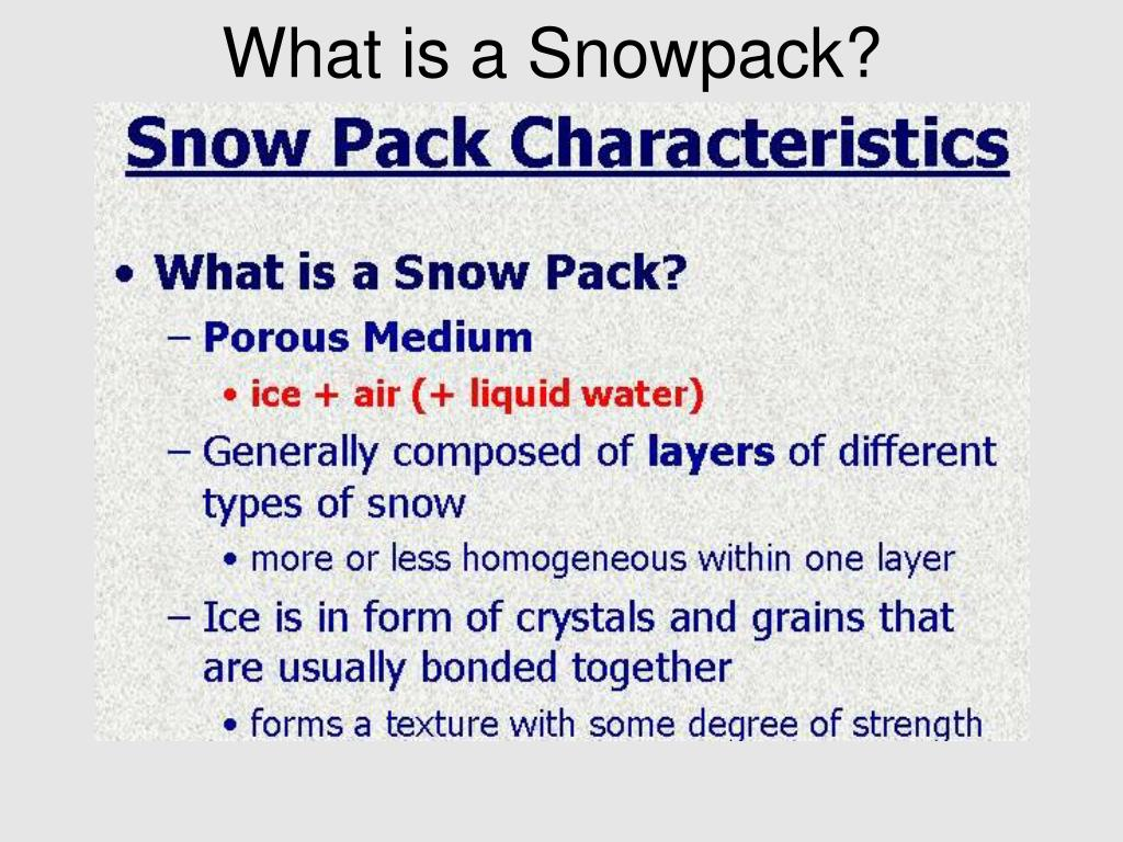 What is a Snowpack?