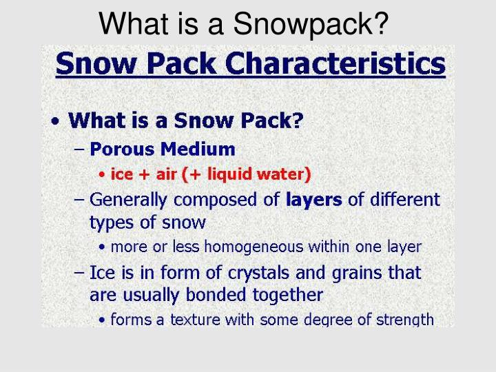 What is a snowpack l.jpg