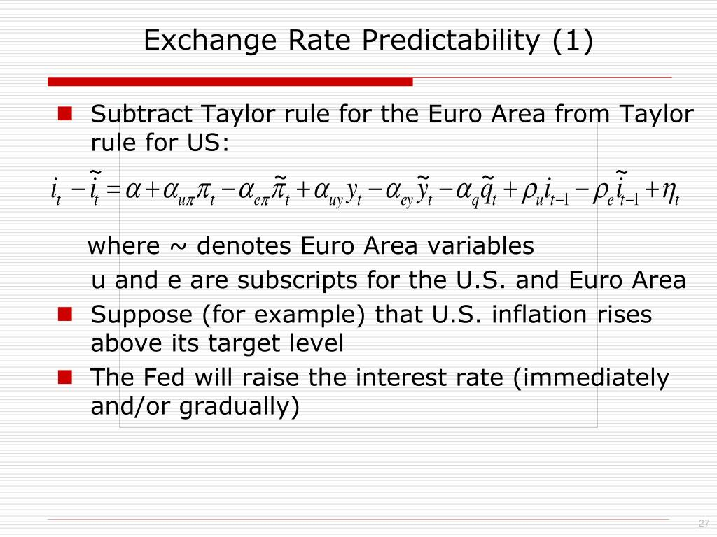 Exchange Rate Predictability (1)
