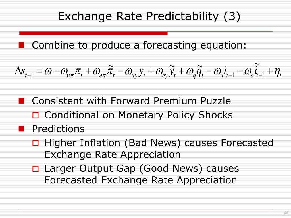 Exchange Rate Predictability (3)