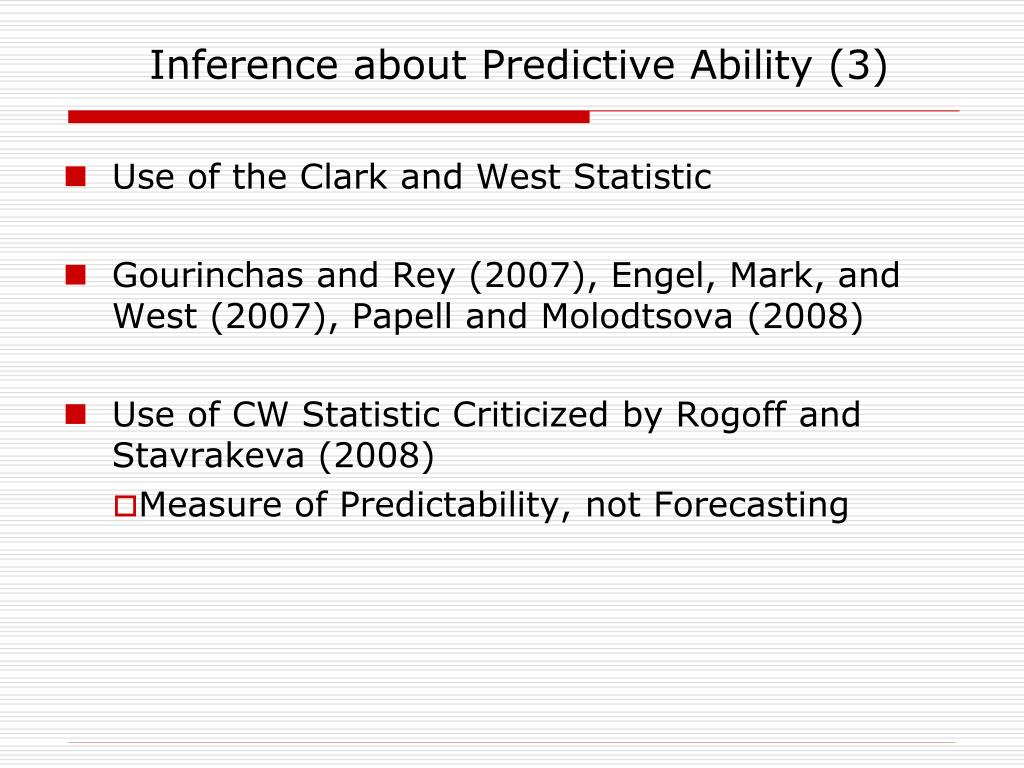 Inference about Predictive Ability (3)