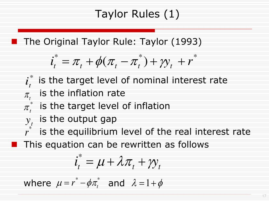 Taylor Rules (1)