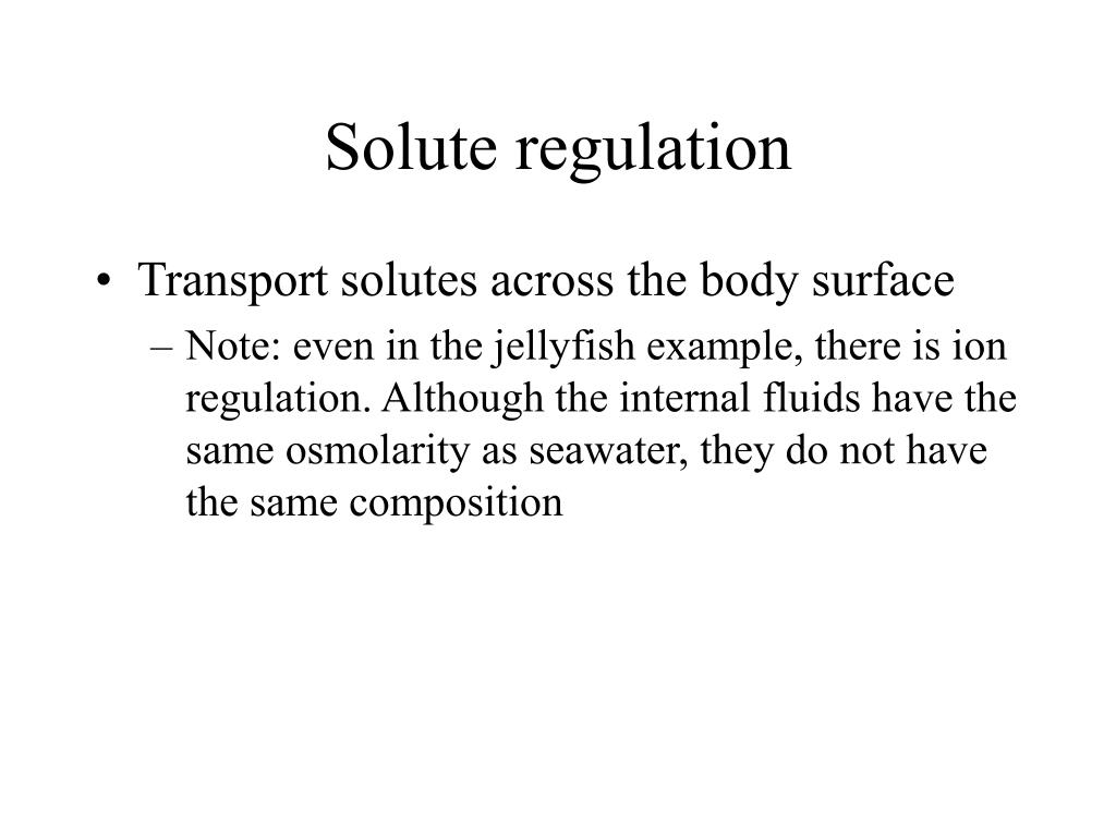 Solute regulation