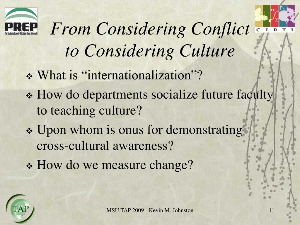 From Considering Conflict