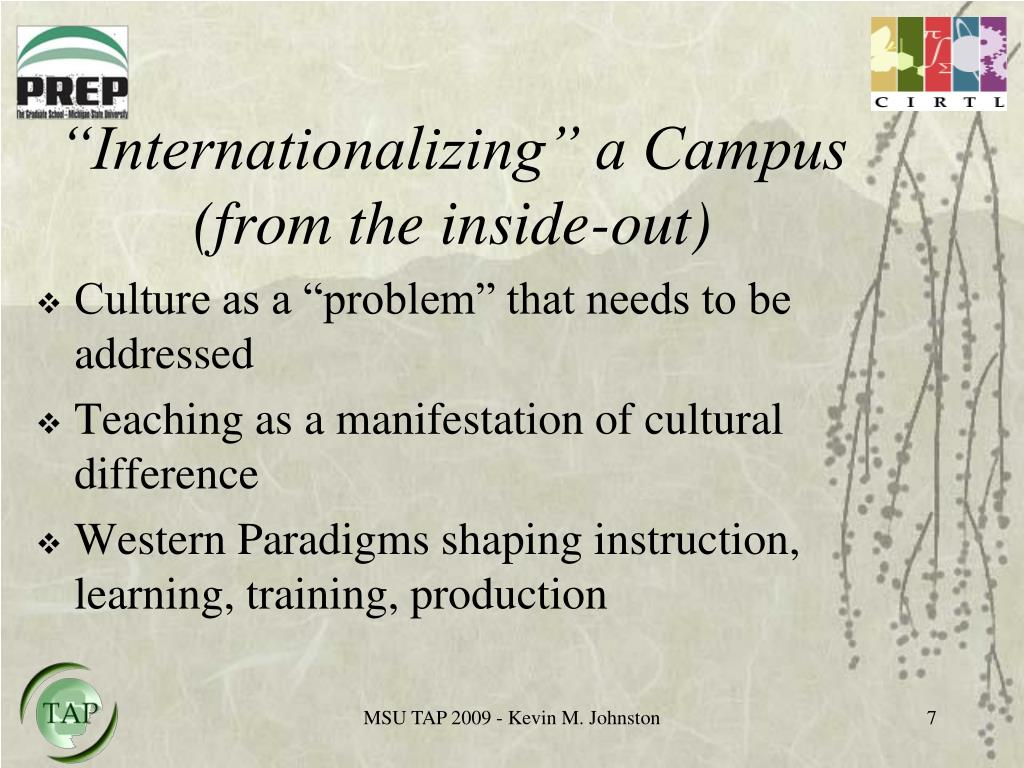 """Internationalizing"" a Campus (from the inside-out)"
