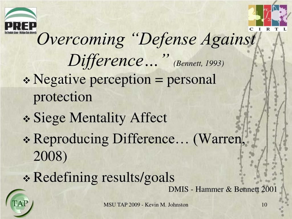 "Overcoming ""Defense Against Difference…"""