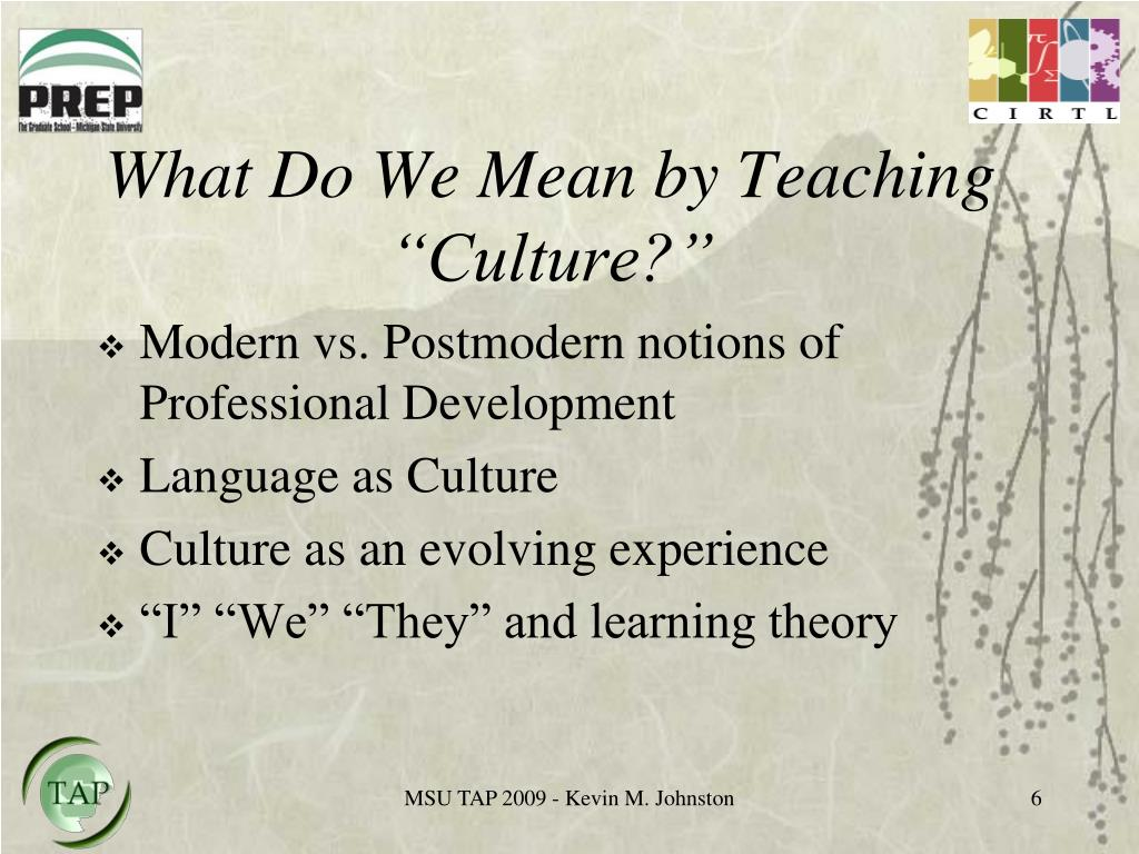"What Do We Mean by Teaching ""Culture?"""