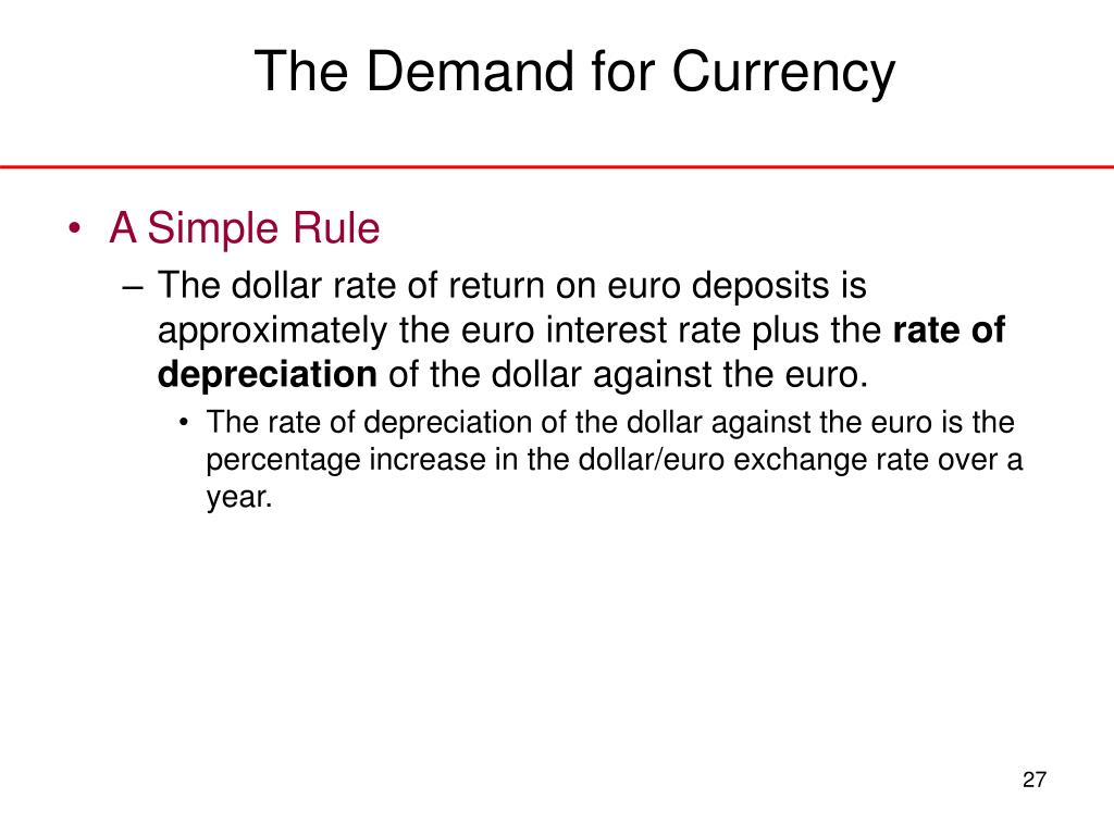The Demand for Currency