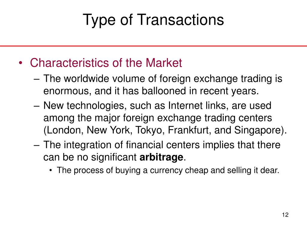 Type of Transactions