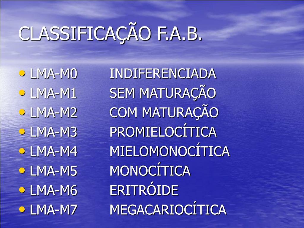CLASSIFICAÇÃO F.A.B.