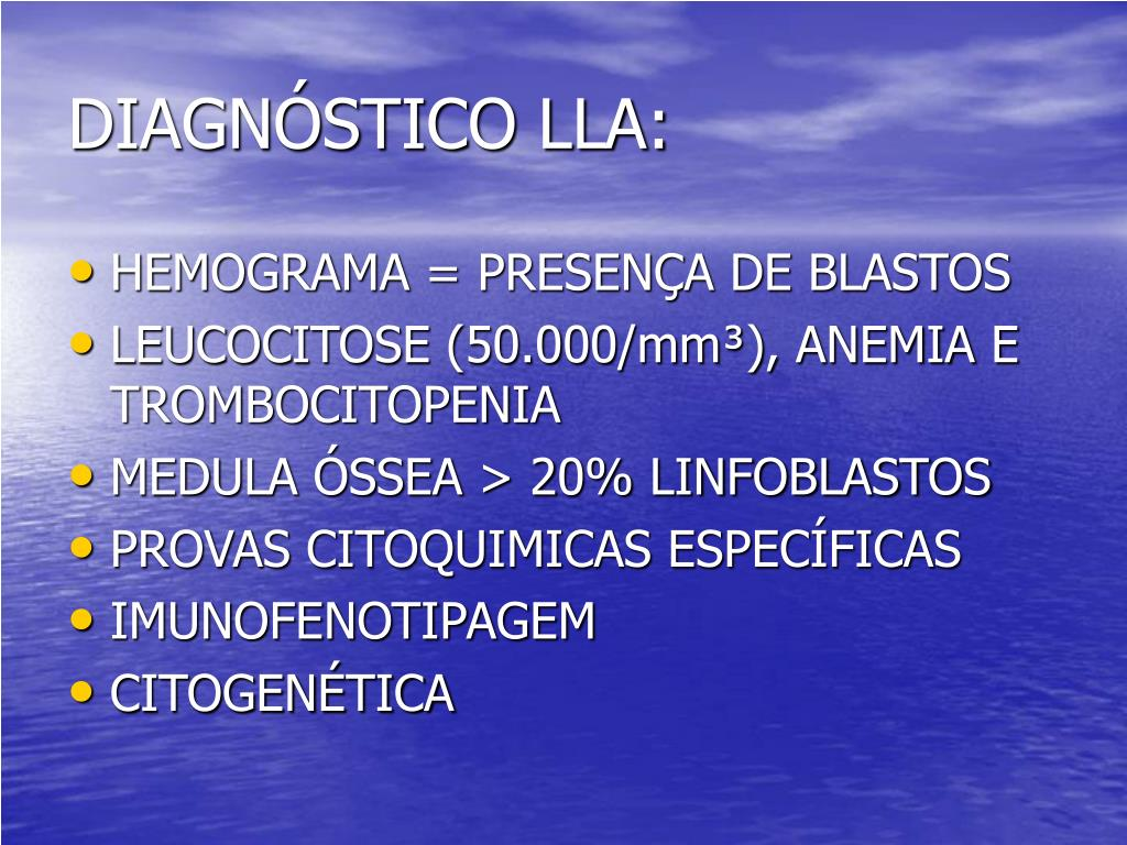 DIAGNÓSTICO LLA: