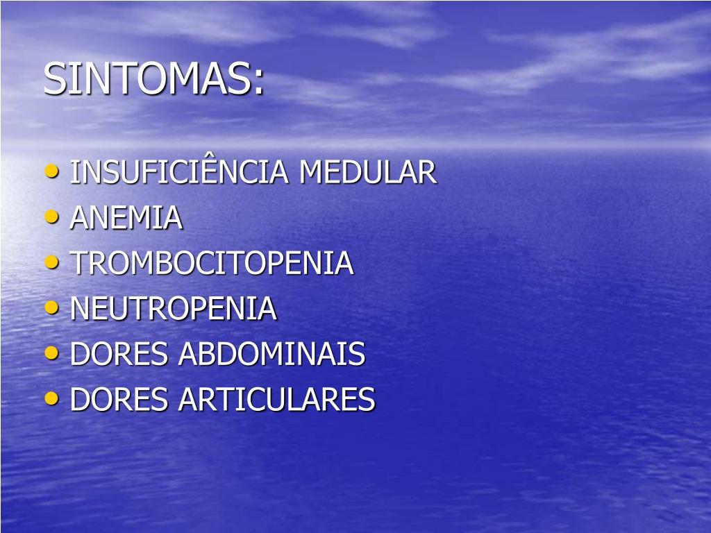 SINTOMAS: