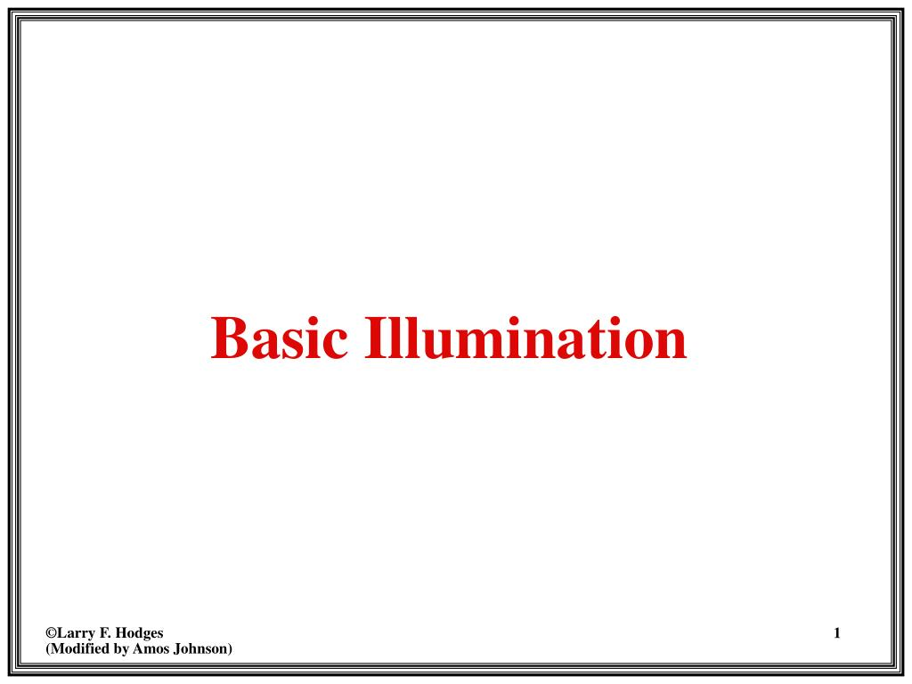Basic Illumination