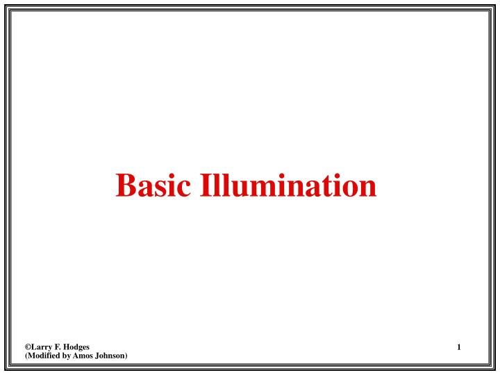 Basic illumination l.jpg
