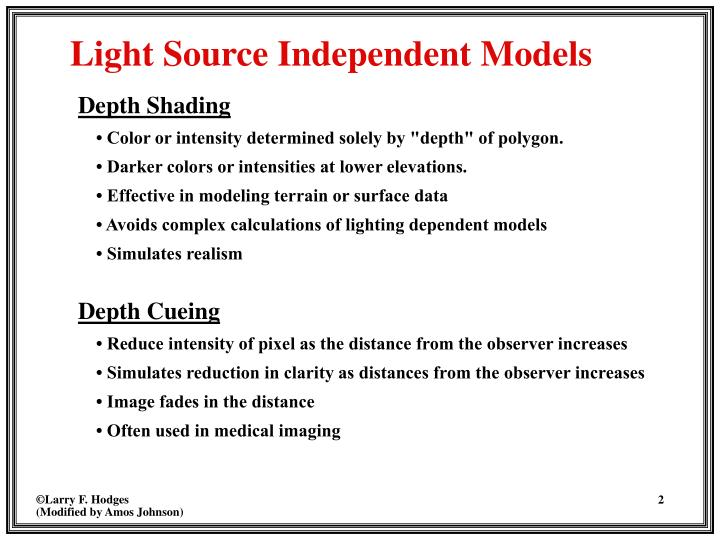 Light source independent models
