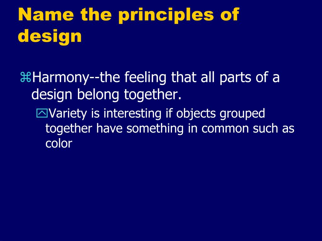 Name The Principles Of Design : Ppt facs unit housing and interior design powerpoint