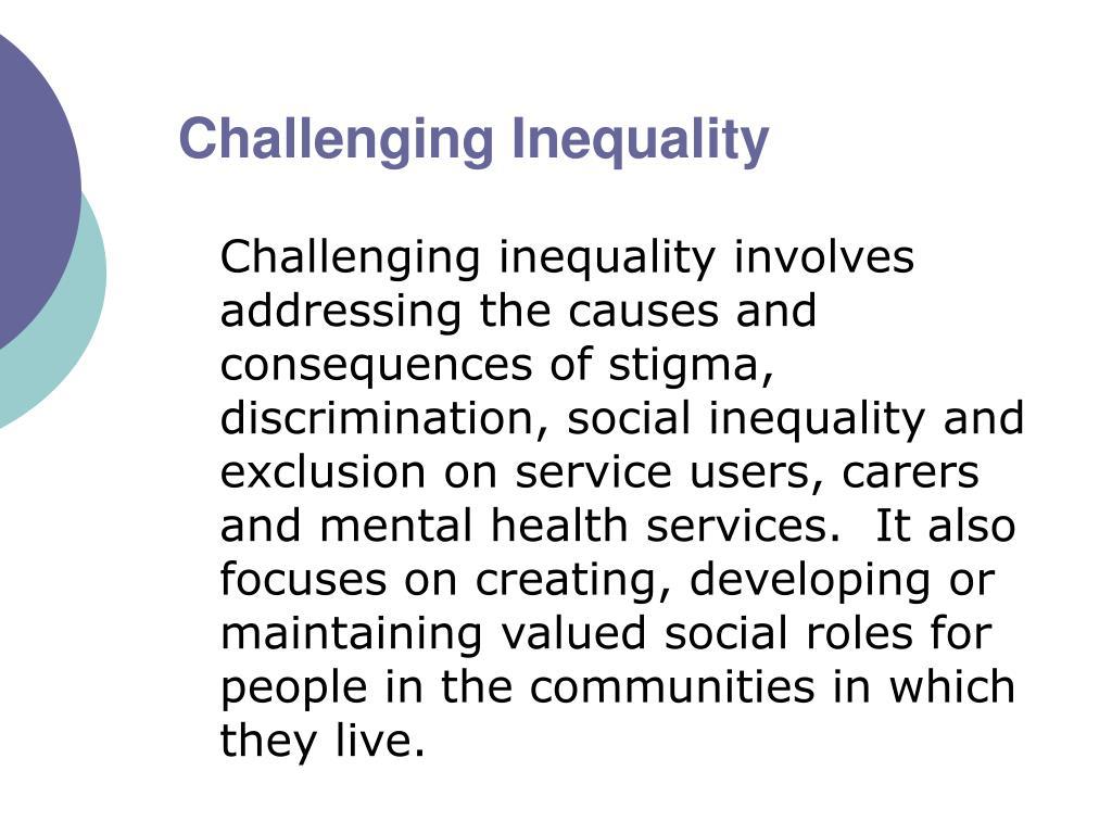social injustice and stigma regarding the