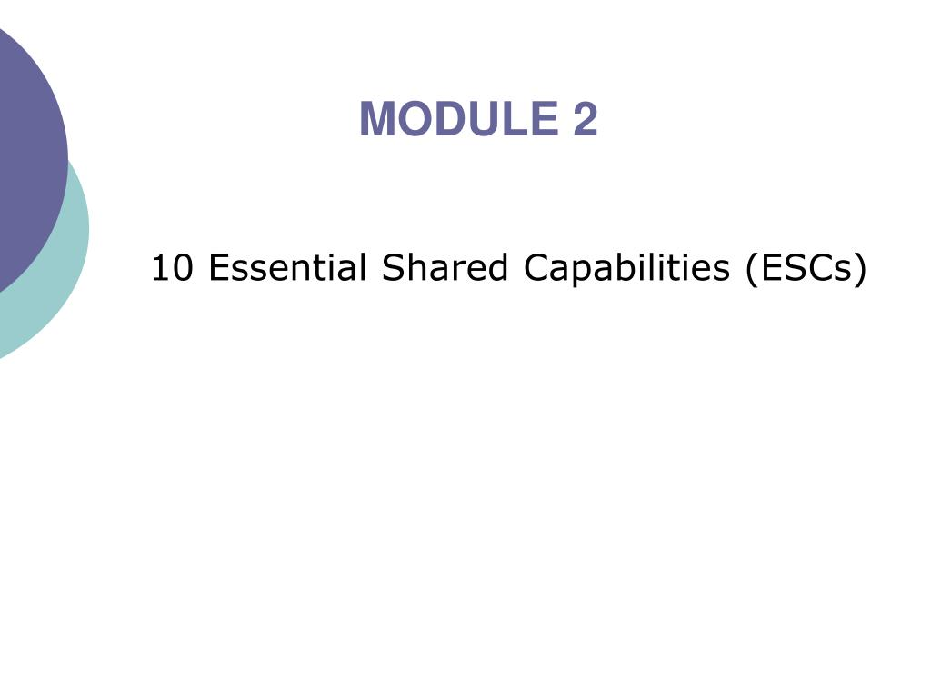 10 essential shared capabilities