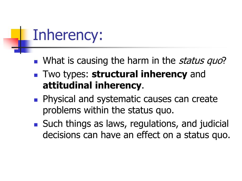 Inherency:
