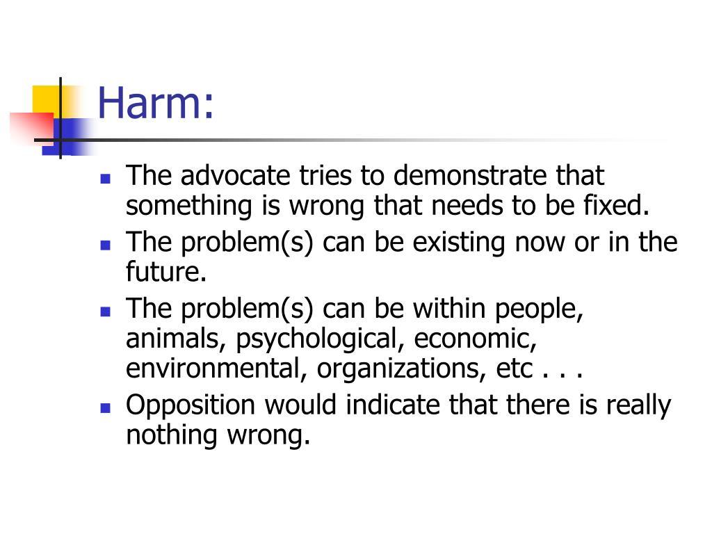Harm: