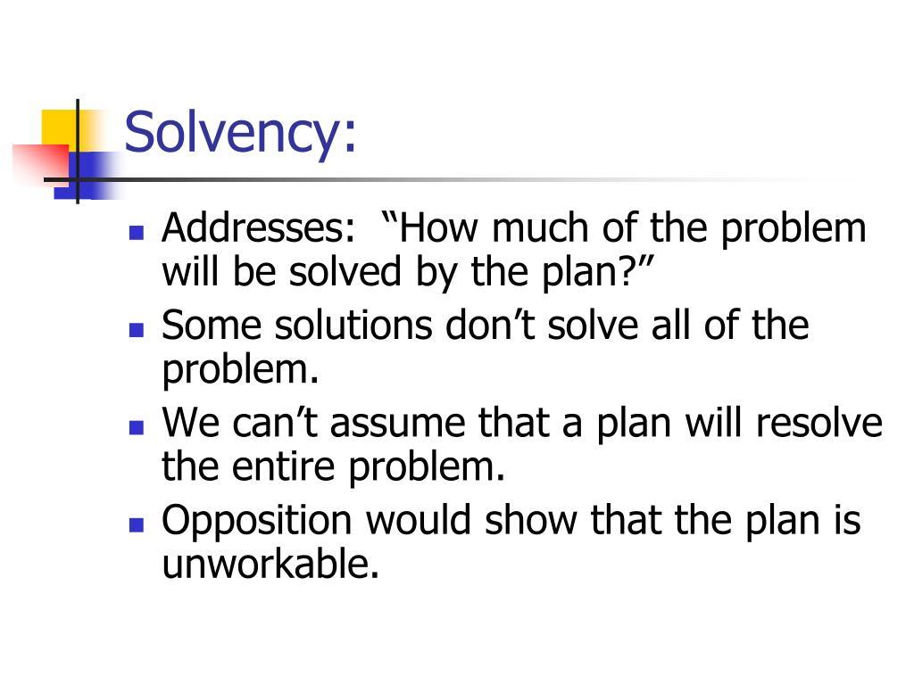 Solvency: