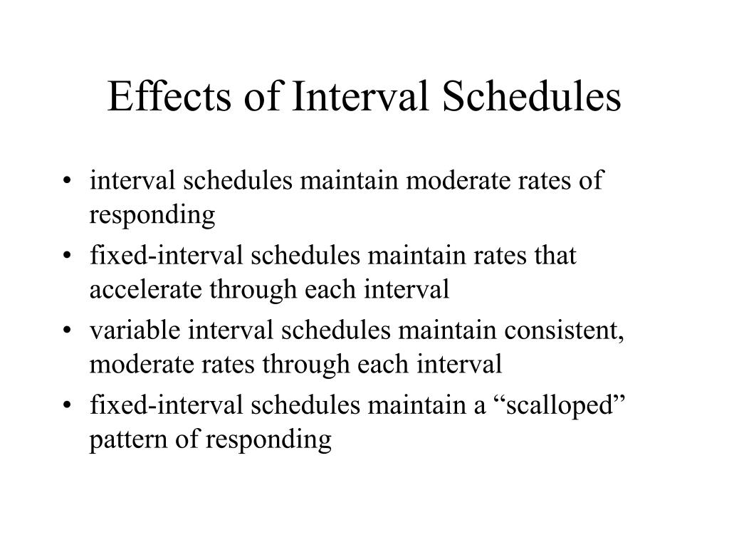 Effects of Interval Schedules