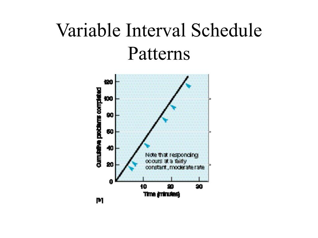 Variable Interval Schedule Patterns