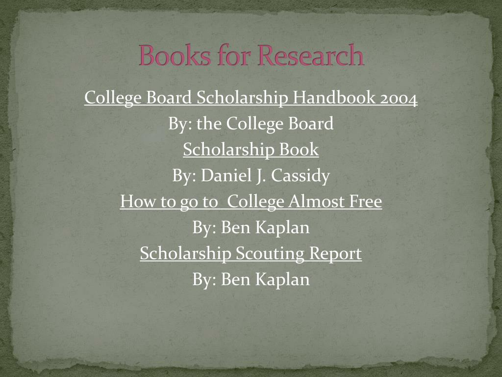 Books for Research