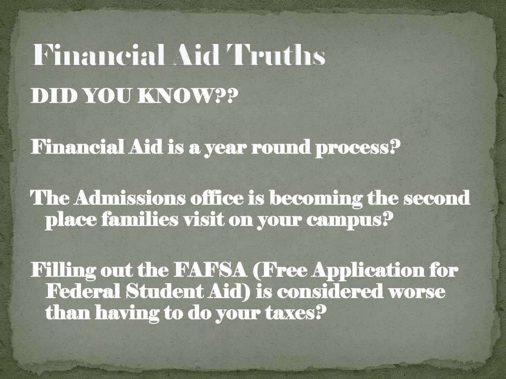Financial Aid Truths