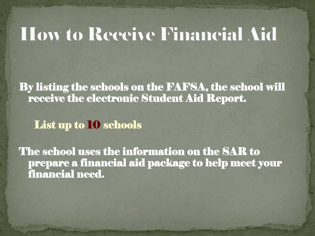 How to Receive Financial Aid