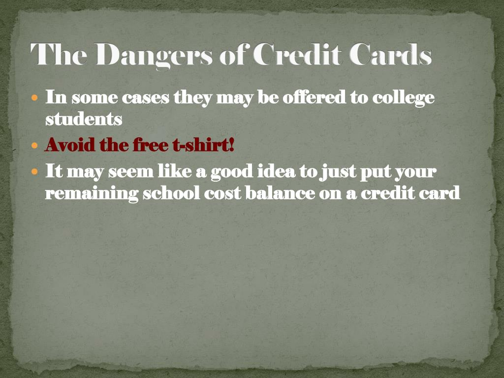 The Dangers of Credit Cards