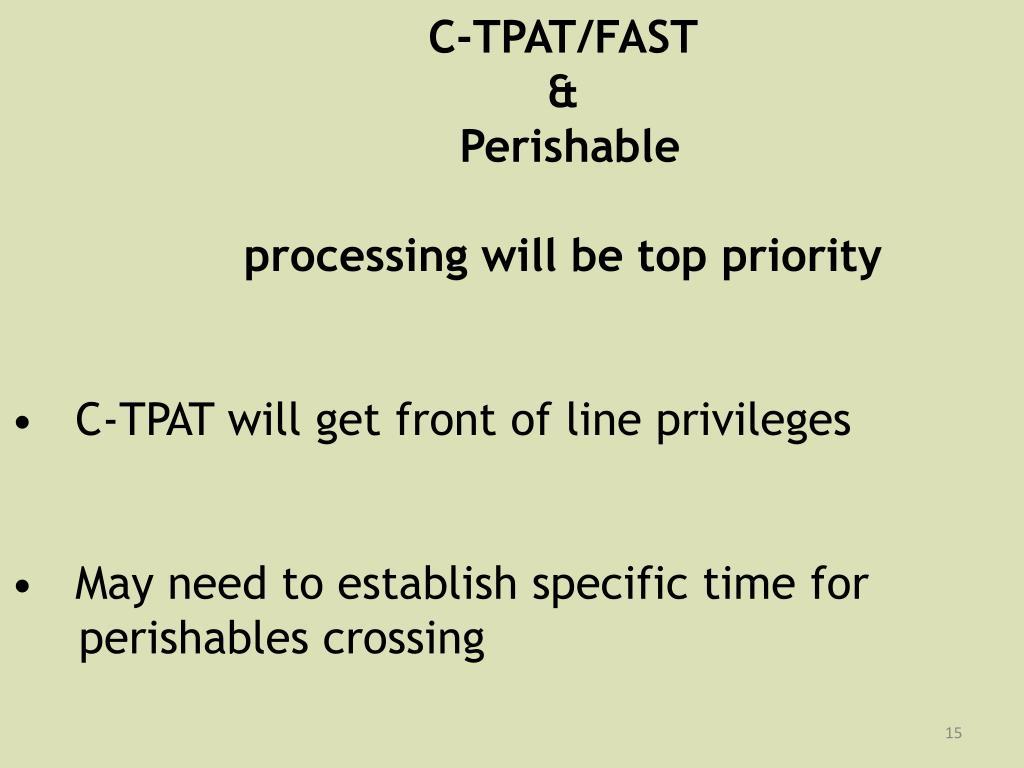 C-TPAT/FAST