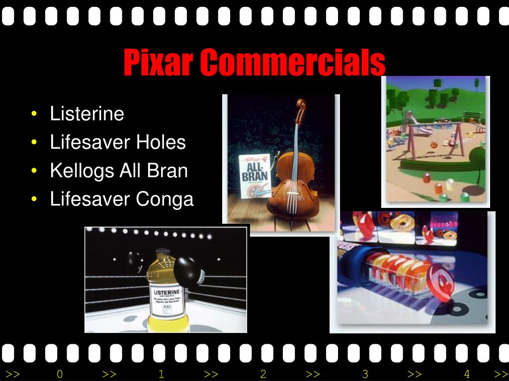 Pixar Commercials
