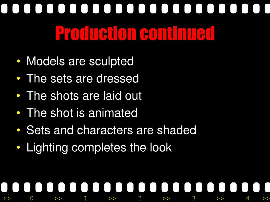 Production continued