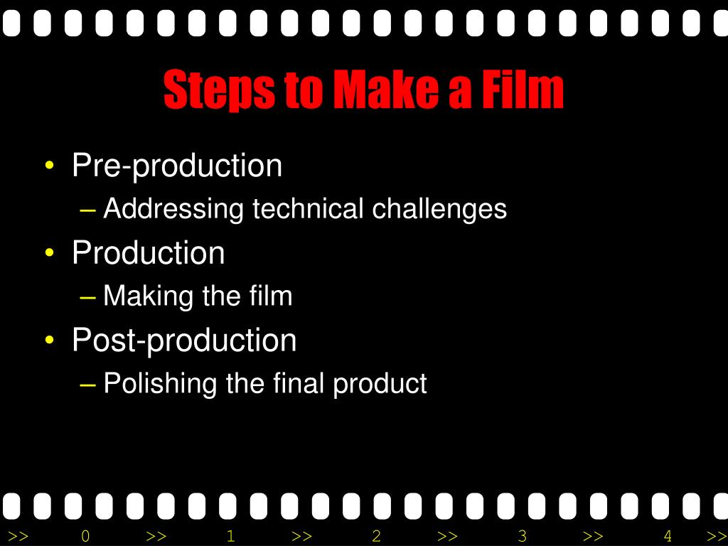 Steps to Make a Film