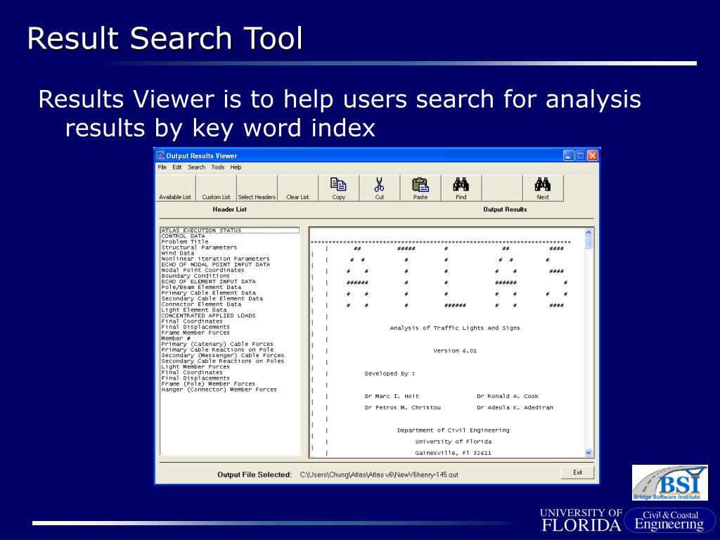 Results Viewer is to help users search for analysis results by key word index