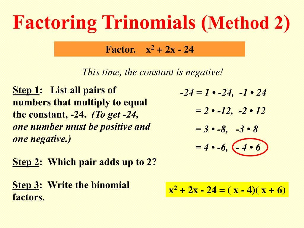 Factoring Trinomials (
