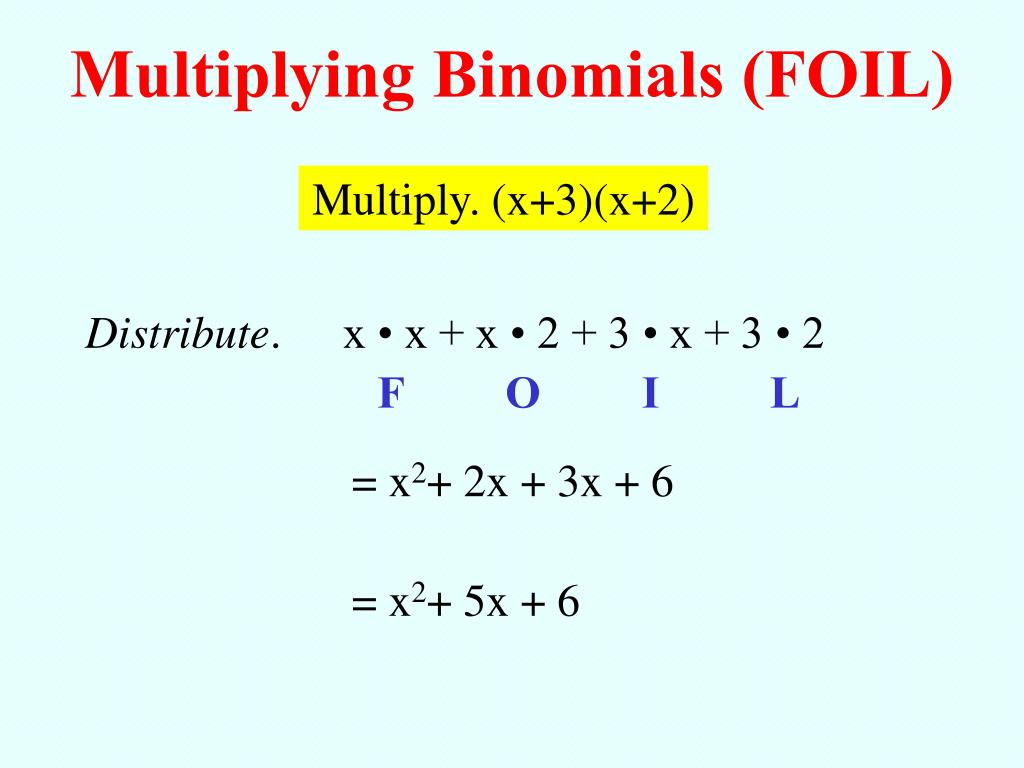 Multiplying Binomials (FOIL)