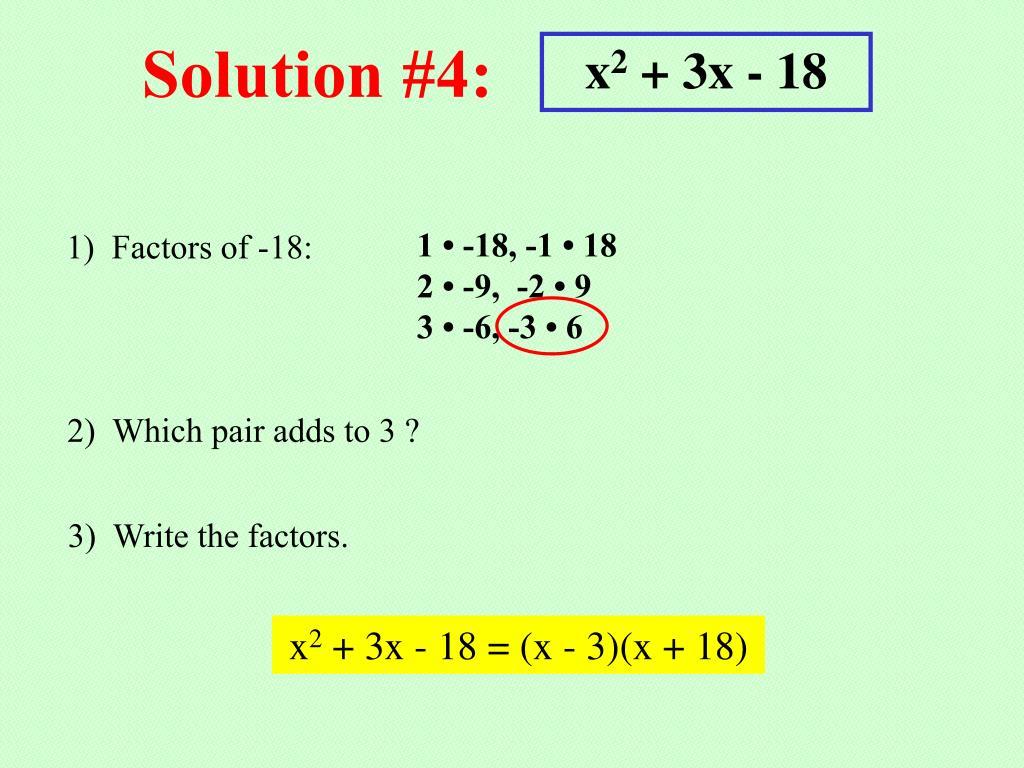 Solution #4: