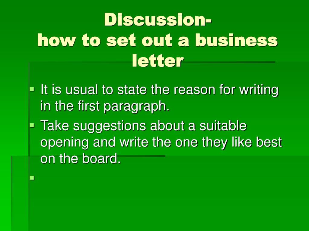 Discussion-