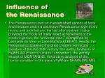 influence of the renaissance