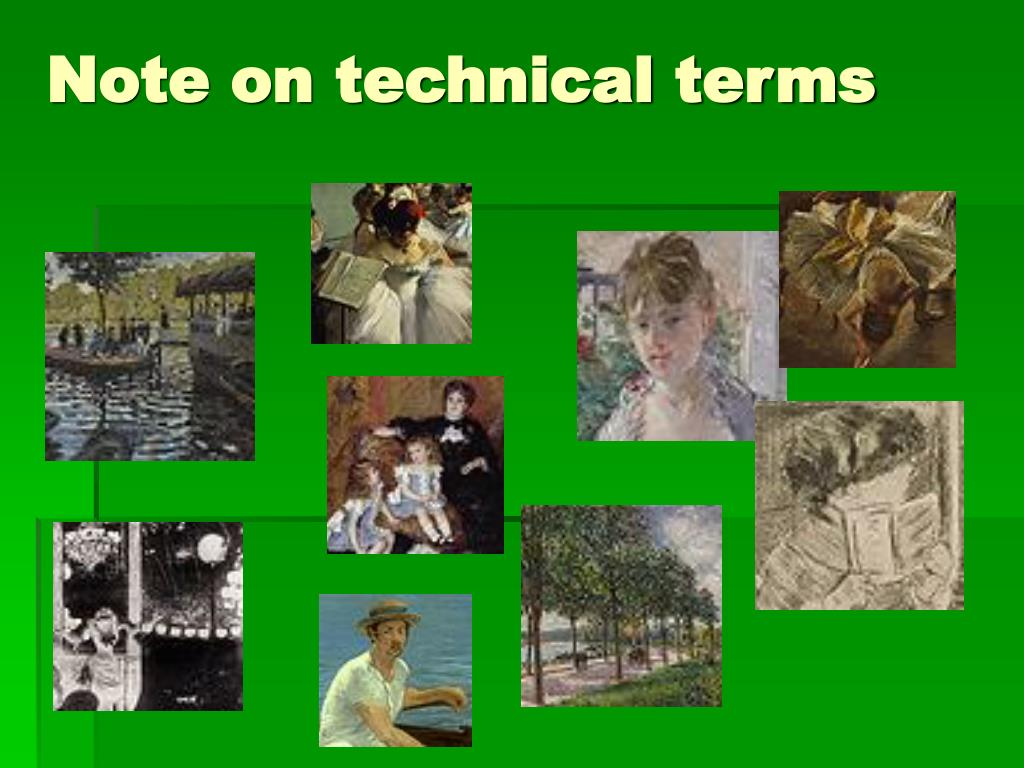 Note on technical terms