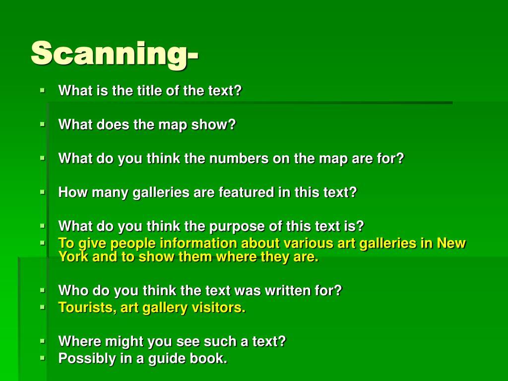 Scanning-