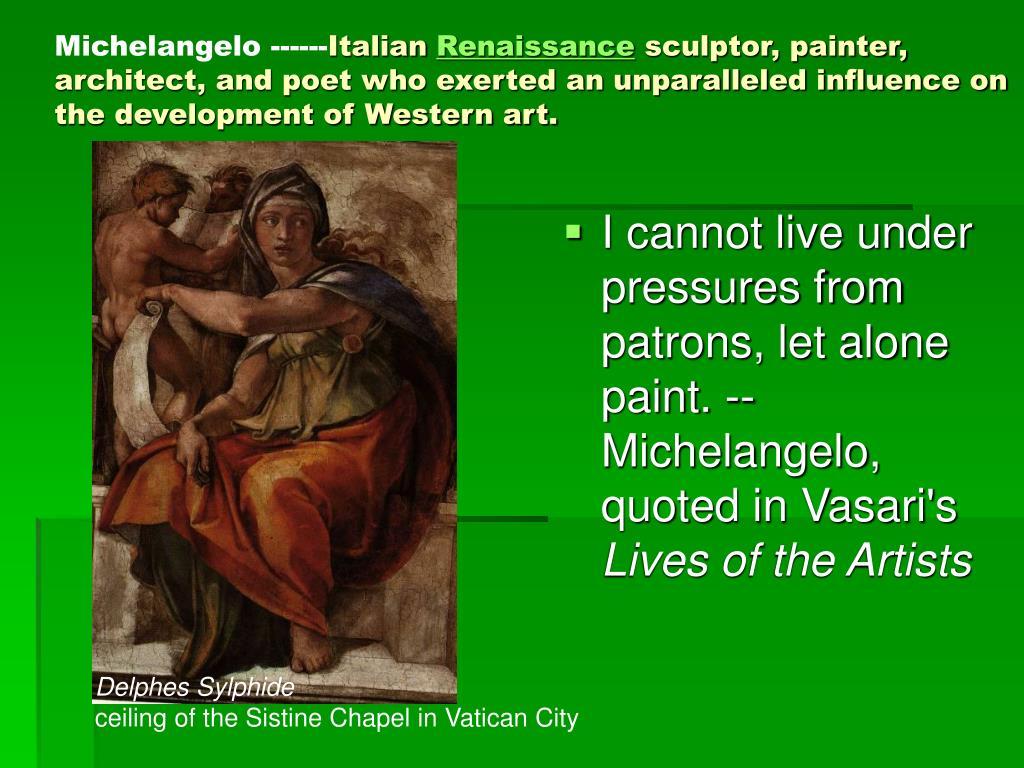 Michelangelo ------