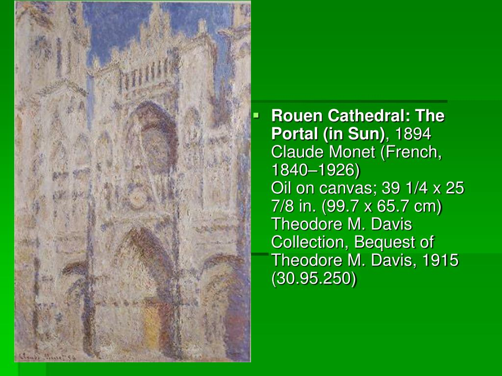 Rouen Cathedral: The Portal (in Sun)