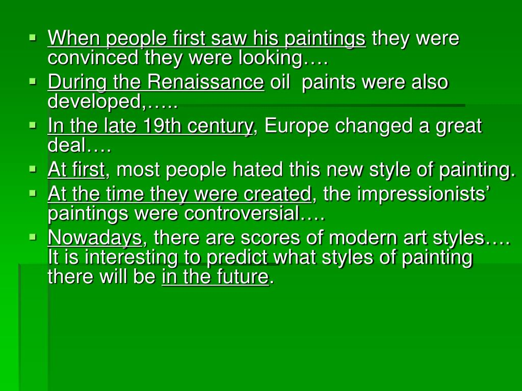 When people first saw his paintings