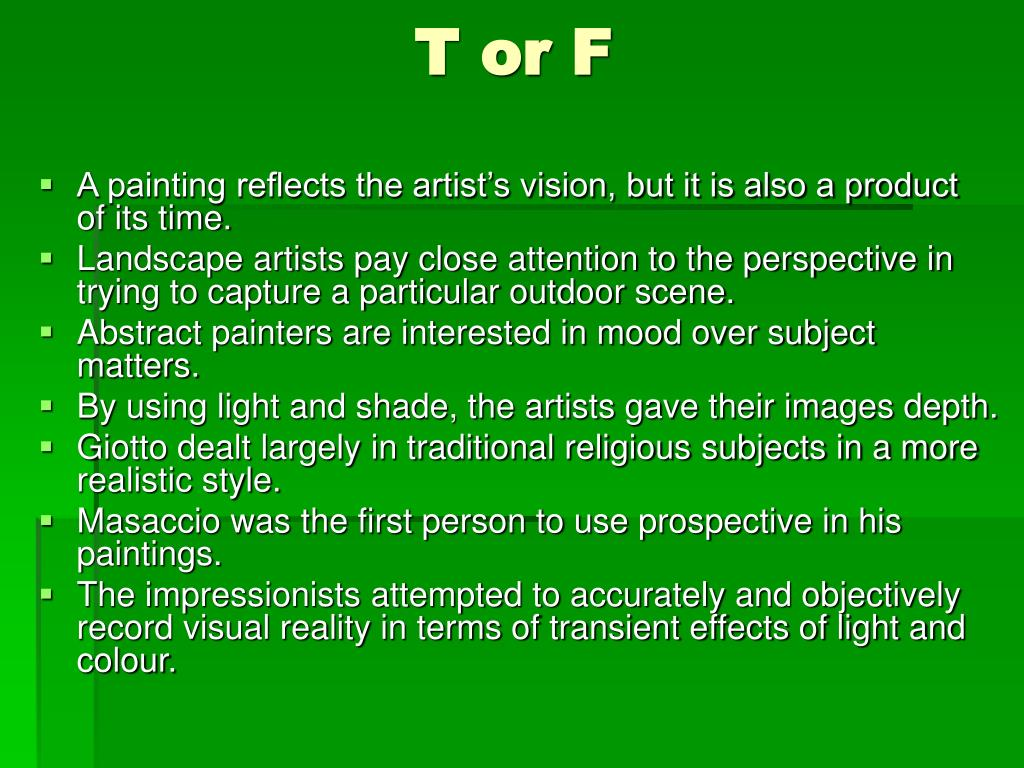 T or F