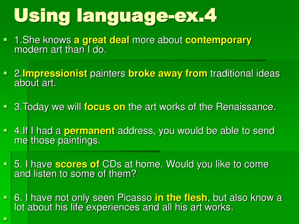 Using language-ex.4