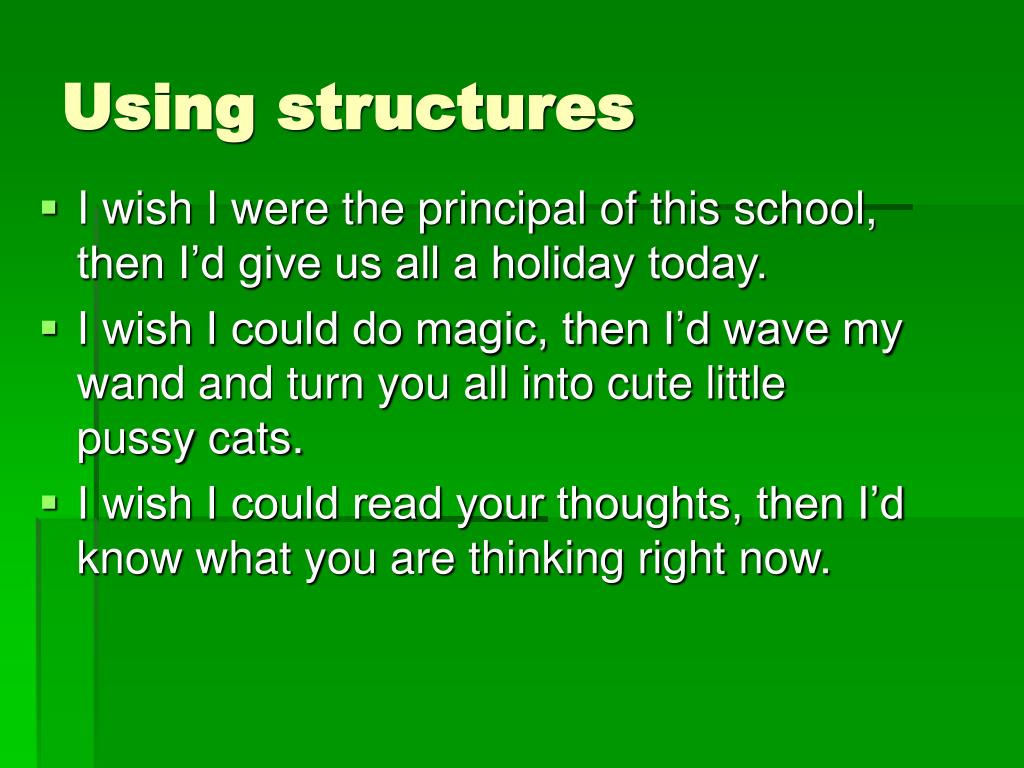 Using structures